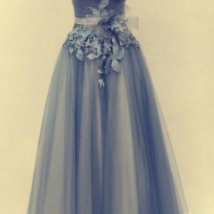 2017 Tulle Evening Dresses, Blue Pr..
