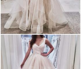 White V-Neck Tulle S..