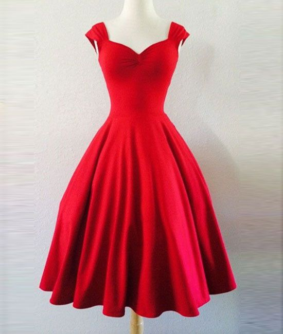 Custom Made Simple Red Sweetheart Short Prom Dress 0c0249219