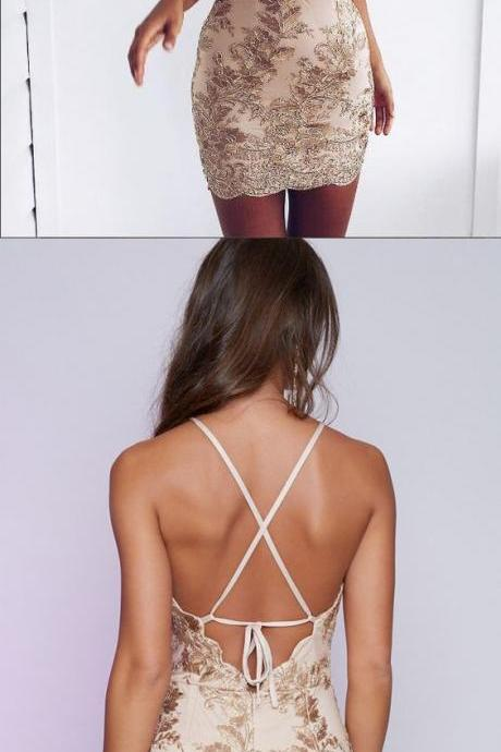 Sexy Halter Sheath Spandex Silver Short Homecoming Dress with Beading Open Back,51908