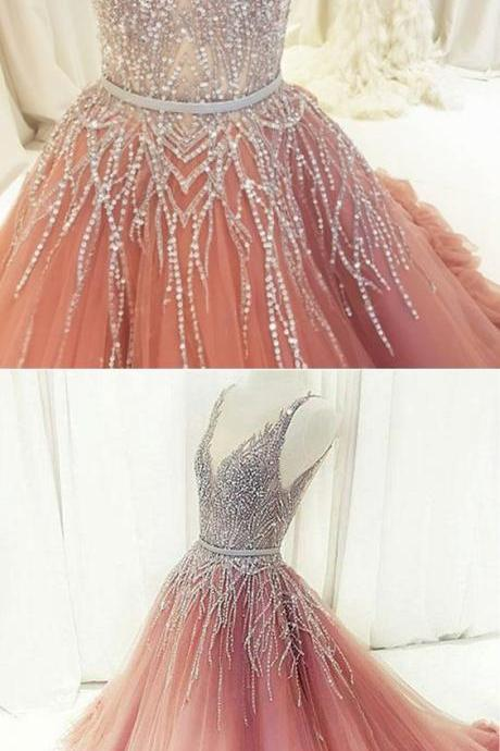 Stunning sequins long customize evening dress, long formal prom dress, Formal Gown,Fashion Prom Dresses,810603