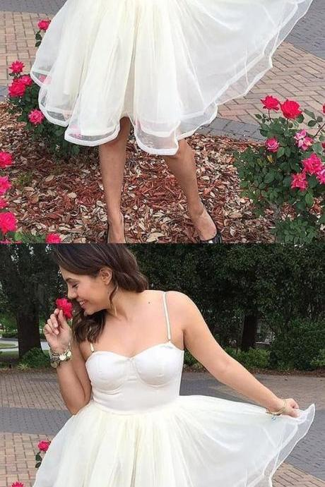 A-Line Spaghetti Straps Short Homecoming Dress, Cheap Homecoming Dress,Short Homecoming Dress,862301