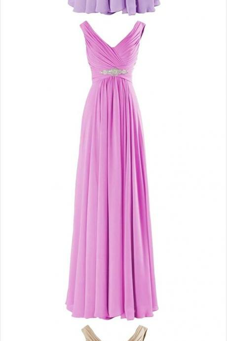 V Neck A-line Long Evening Prom Dress with Beads,Formal Dress,Party Dresses,Fashion Prom Dress,8111923