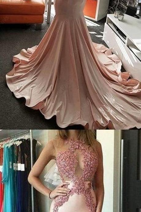 Pink Prom Dresses For Teens, Mermaid Formal Dress,Fashion Prom Dress,8121504