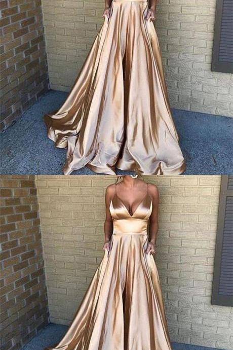 Spaghetti Straps Simple Cheap Prom Dress, fashion A-line prom gown,Sexy Evening Dress,Fashion Prom Dress,8121511
