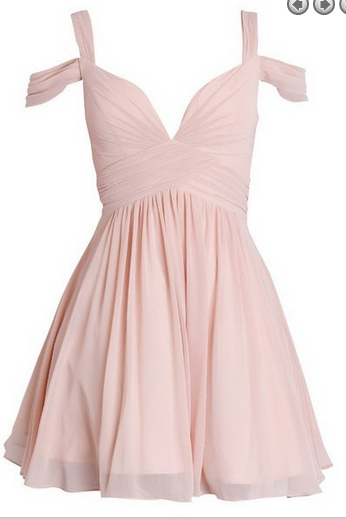 Pink Homecoming Dress,Cute Homecoming Dress,Short Prom Dress,41416